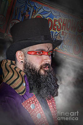 Photograph - Portrait Of Evil Wrestling Genius The Cold One Ac Altered Version  by Jim Fitzpatrick