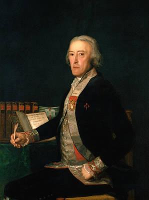 Portrait Of Old Man Painting - Portrait Of Felix Colon De Larriategui  by Francisco Goya