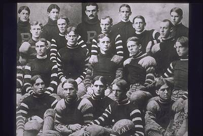 Portrait Of Football Team, 1900s Art Print