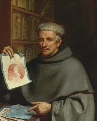 Giovanni Francesco Barbieri Painting - Portrait Of Fra Bonaventura Bisi by Giovanni