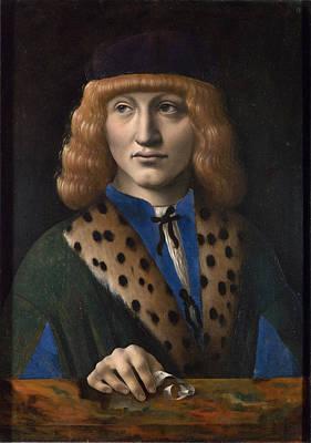 Painting - Portrait Of Francesco Di Bartolomeo Archinto by Marco d'Oggiono
