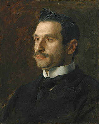 Painting -  Portrait Of Francesco Romano by Thomas Eakins