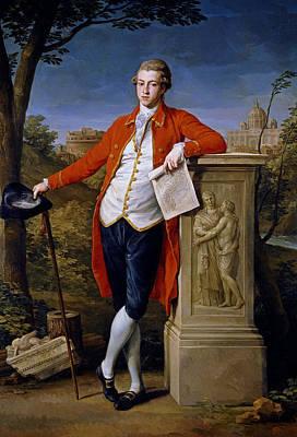 Portrait Of Francis Basset, 1st Baron De Dunstanville And Basset  Art Print by Pompeo Batoni
