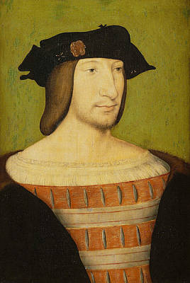 Painting - Portrait Of Francis I, King Of France by Jean Clouet