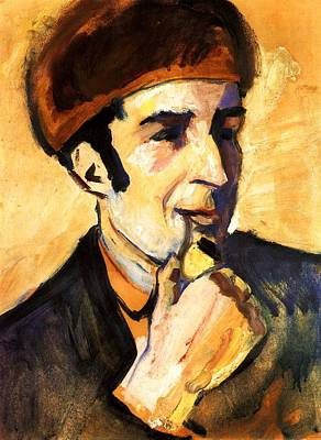 Painting - Portrait Of Franz Marc by August Macke