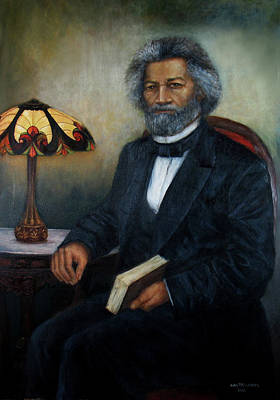 Orator Painting - Portrait Of Frederick Douglass by Sylvia Castellanos