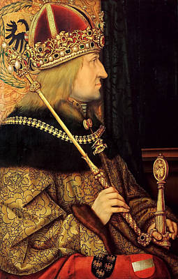Painting - Portrait Of Frederick IIi Holy Roman Emperor  by Attributed to Hans Burgkmair the Elder