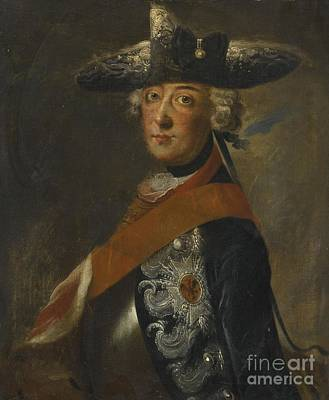 Portrait Of Frederick The Great Of Prussia Art Print