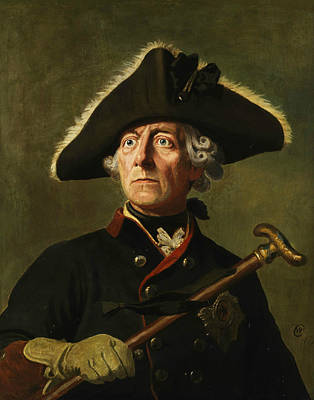 Prussia Painting - Portrait Of Frederick The Great by Wilhelm Camphausen