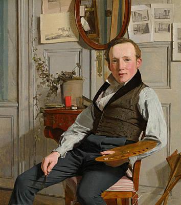 Danish Painting - Portrait Of Frederik Sodring by Christen Kobke