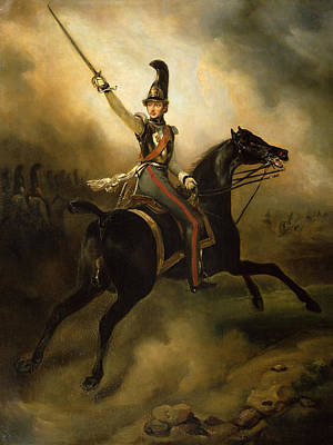 Military Uniform Painting - Portrait Of Friedrich Heinrich by Emile Jean Horace Vernet