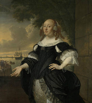 Painting - Portrait Of Geertruida Den Dubbelde by Bartholomeus van der Helst