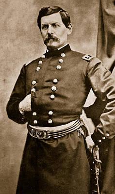 Cameo Photograph - Portrait Of General George B Mcclellan by Matthew Brady