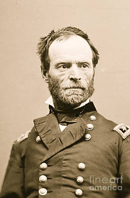 Tecumseh Photograph - Portrait Of General William Tecumseh Sherman by American School