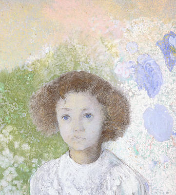 Portrait Of Genevieve De Gonet As A Child Art Print