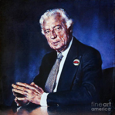 Painting - Portrait Of Gianni Agnelli by Ritchard Rodriguez