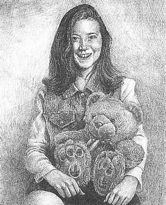 Drawing - Portrait Of Girl by Dan Moran