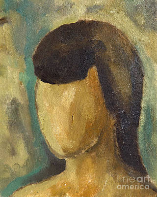 Painting - Portrait Of Girl Series On Expressionism, Oil Painting On Canvas With Artist-made Preparations by Alessandro Nesci