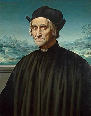 Painting - Portrait Of Girolamo Benivieni by Attributed to Ridolfo Ghirlandaio