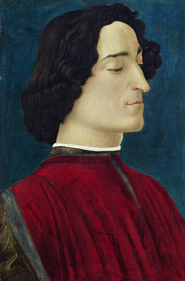 Early Painting - Portrait Of Giuliano De' Medici by Sandro Botticelli