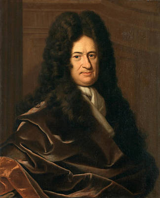 Painting -  Portrait Of Gottfried Leibniz. German Philosopher by Christoph Bernhard Francke