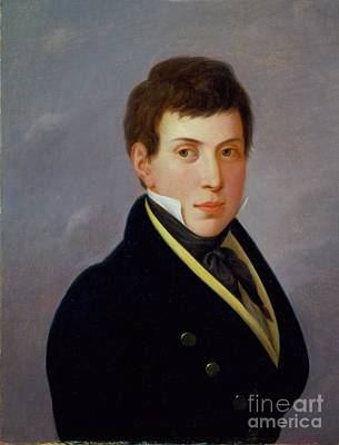 Painting - Portrait Of Gottfried Reiss by Celestial Images