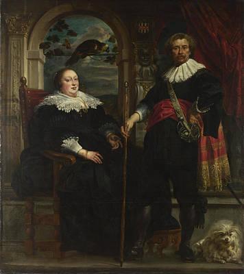 Portrait Of Govaert Van Surpele And His Wife Art Print
