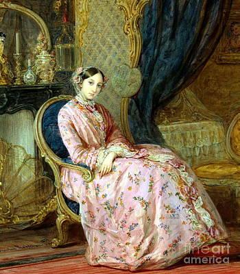 Duchess Painting - Portrait Of Grand Duchess Maria Nikolaevna by Celestial Images