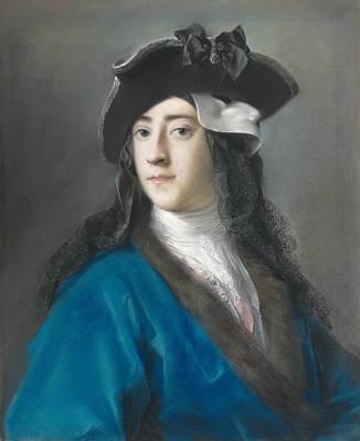 Venetian Art Pastel - Portrait Of Gustavus Hamilton, 2nd Viscount Boyne  by Rosalba Carriera