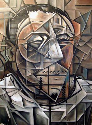 Cubism Painting - Portrait Of H by Martel Chapman
