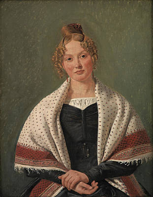 Painting - Portrait Of Hanne Wanscher, Nee Wegener by Constantin Hansen