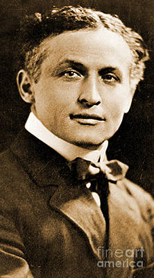 Portrait Of Harry Houdini, 1910 Art Print