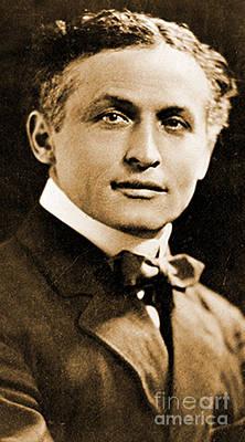 Portrait Of Harry Houdini, 1910 Art Print