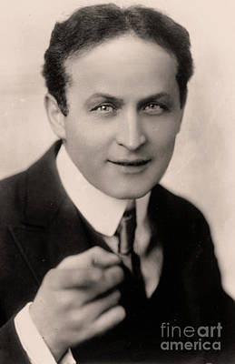 Portrait Of Harry Houdini Art Print