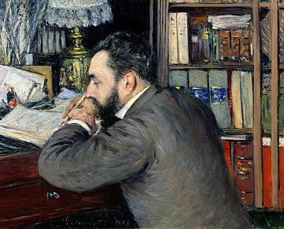 Revising Painting - Portrait Of Henri Cordier by Gustave Caillebotte