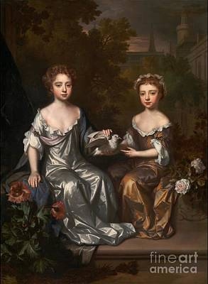 Hyde Painting - Portrait Of Henrietta And Mary Hyde by MotionAge Designs