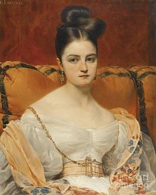 Portrait Of Henriette Grevedon Art Print by Celestial Images