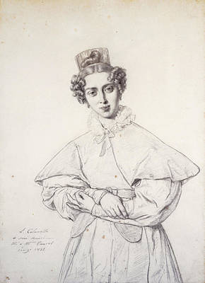 Drawing - Portrait Of Henriette Taurel Nee Thevenin by Luigi Calamatta