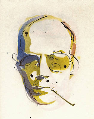 Peter Max Painting - Portrait Of Hunter S. Thompson by Ryan  Hopkins