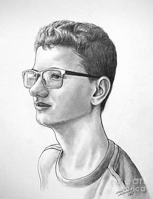 Drawing - Portrait Of Ian by Christopher Shellhammer