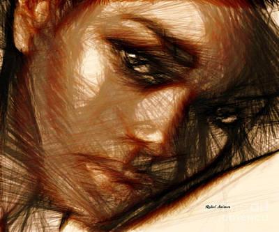 Mixed Media - Portrait Of Innocence by Rafael Salazar