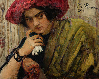 Portrait Of Isaak Brodsky's Sister Art Print