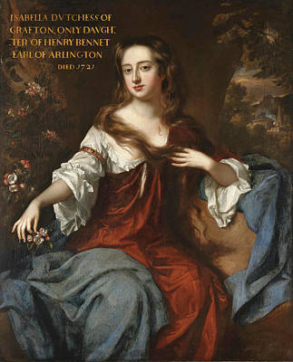 Grafton Painting - Portrait Of Isabella Duchess Of Grafton by Willem Wissing