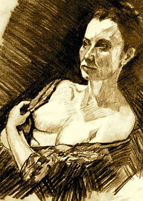 Portrait Of Jacqueline Art Print by Dan Earle