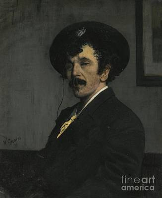 Whistler Painting - Portrait Of James Abbott Mcneill Whistler by Celestial Images