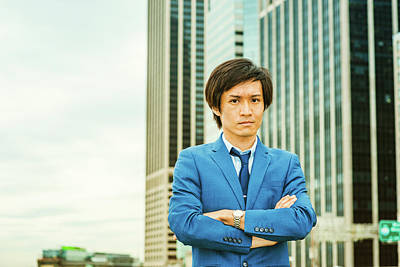 Photograph - Portrait Of Japanese Young Man In New York 15041412 by Alexander Image