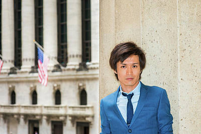 Photograph - Portrait Of Japanese Young Man In New York 1504142 by Alexander Image