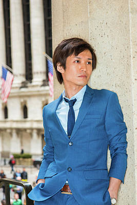 Photograph - Portrait Of Japanese Young Man In New York 1504143 by Alexander Image
