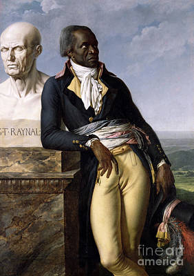 Haiti Painting - Portrait Of Jean-baptiste Belley by Anne Louis Girodet de Roucy-Trioson