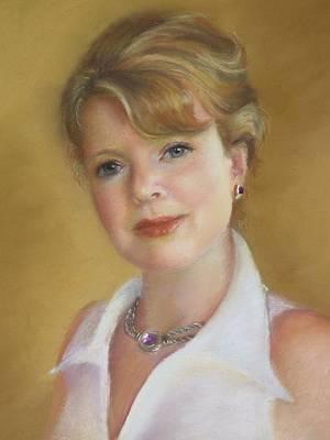 Portrait Of Jeanie Art Print by Melanie Miller Longshore